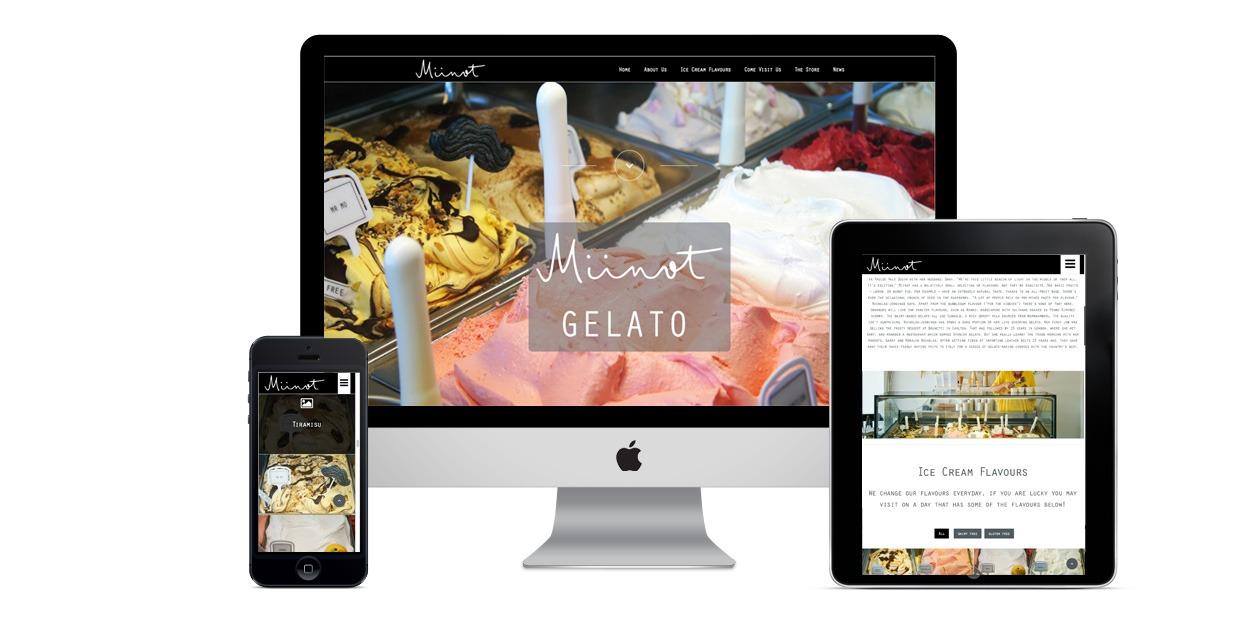 miinot website design