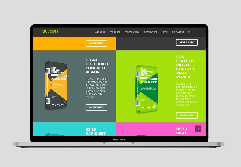 Auscon website design